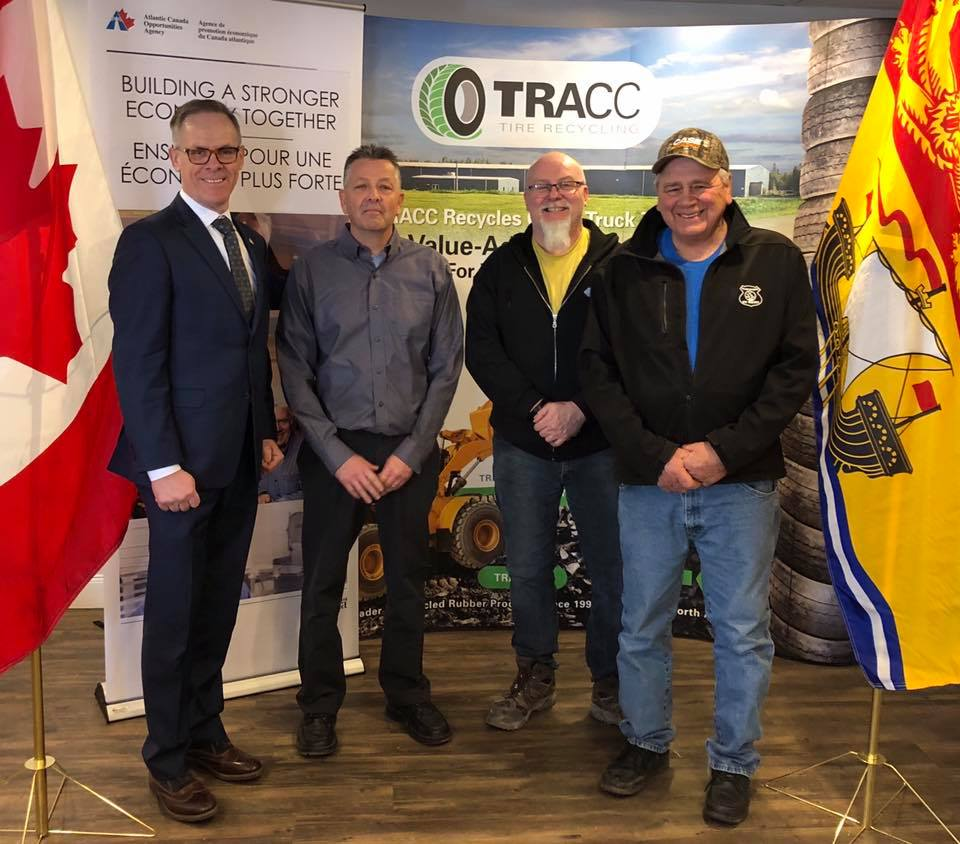 Federal Government Supporting Upgrades at Tire Recycling Atlantic Canada Corporation